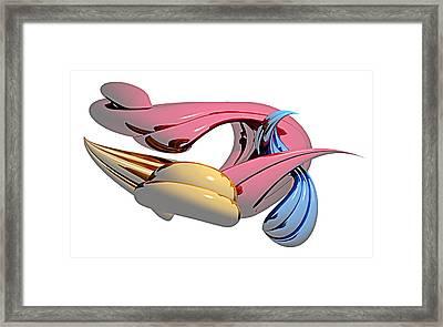 Framed Print featuring the digital art Abs010113 by Matt Lindley