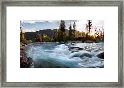 Absaroka Cascade Framed Print