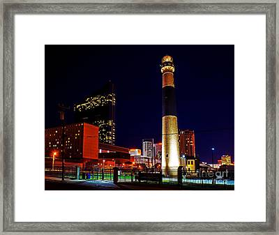 Absecon Lighthouse At Night Framed Print