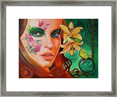 Absent Absinth Framed Print by Italia Ruotolo