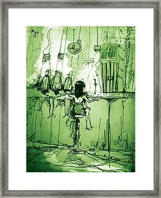 Absinthe Bar Framed Print by J-Star Wind