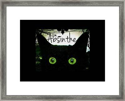 Absinthe Black Cat Framed Print by Absinthe Art By Michelle LeAnn Scott