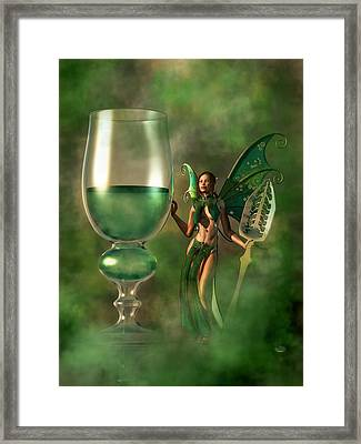 Absinthe Framed Print by Daniel Eskridge