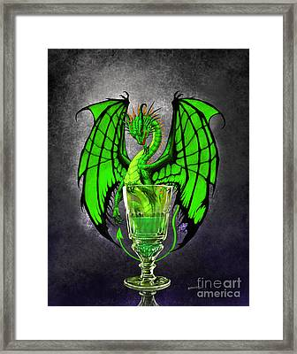 Absinthe Dragon Framed Print by Stanley Morrison