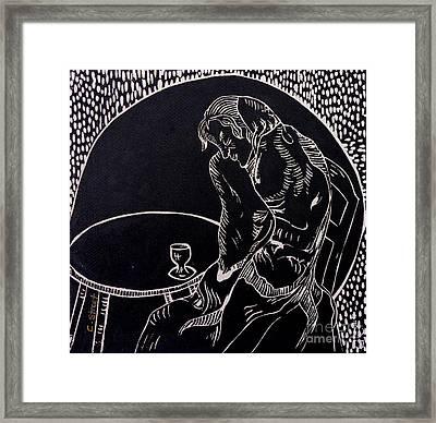 Absinthe Drinker After Picasso Framed Print by Caroline Street
