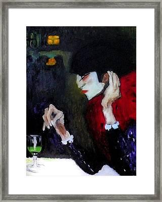 Absinthe Drinker After Picasso Framed Print
