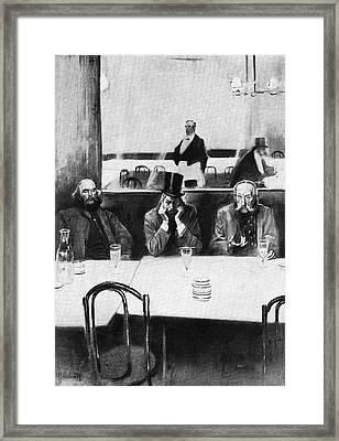 Absinthe Drinkers (verlaine Framed Print
