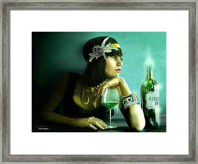 Absinthe Framed Print by Jason Longstreet