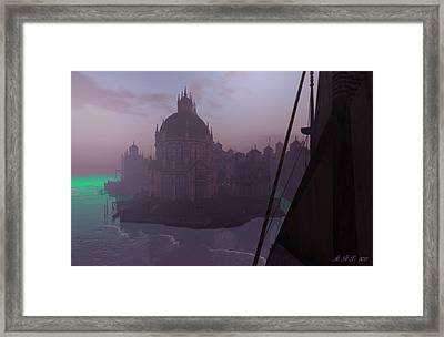 Absinthian Sea Framed Print by Amanda Holmes Tzafrir