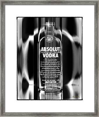 Absolut Black And White Framed Print