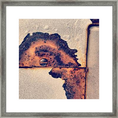 Absract Rust Framed Print by Christy Beckwith