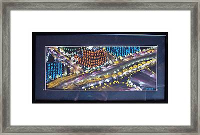 Framed Print featuring the drawing Absrtract Traffic by Joseph Hawkins