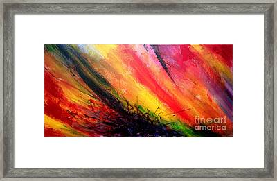 Abstract 01 Framed Print by Juan Jimenez