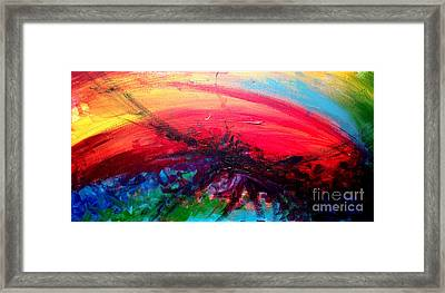 Abstract 02 Framed Print by Juan Jimenez
