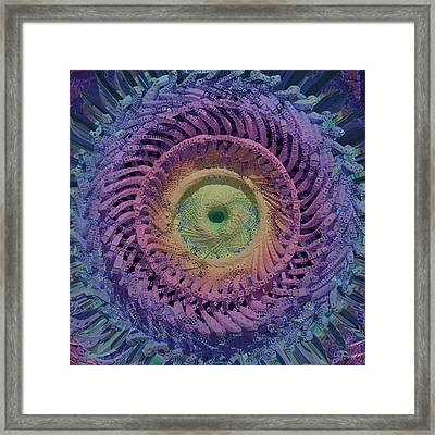 Abstract 042214 Framed Print by Matt Lindley