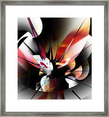 Framed Print featuring the digital art Abstract 082214 by David Lane