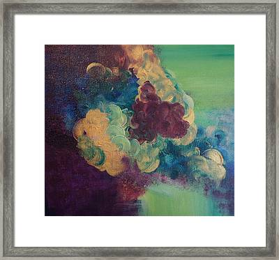 Framed Print featuring the painting Abstract 1 by Kristine Bogdanovich