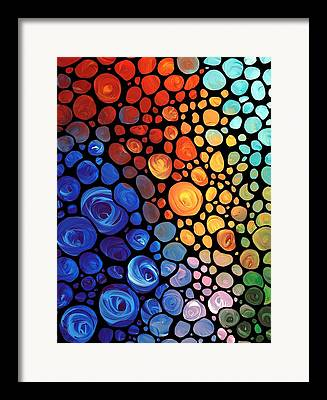 Sea Contemporary Abstract Framed Prints