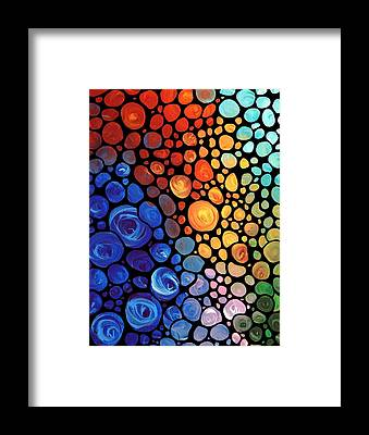 Abstract Sea Framed Prints