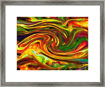 Abstract 17 Framed Print by Kenny Francis