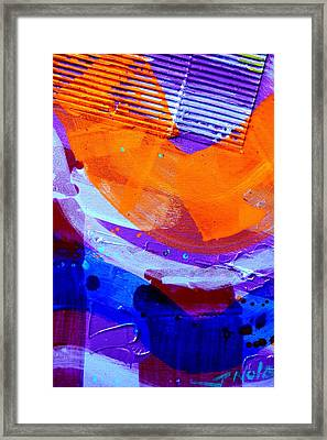 Abstract  19614 Cropped I  Framed Print by John  Nolan