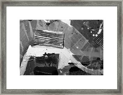 Abstract  19614 Cropped II  Greyscale Framed Print
