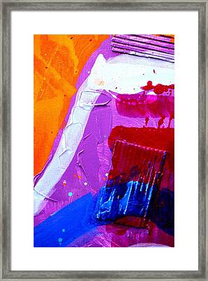 Abstract  19614 Cropped Vi Framed Print by John  Nolan