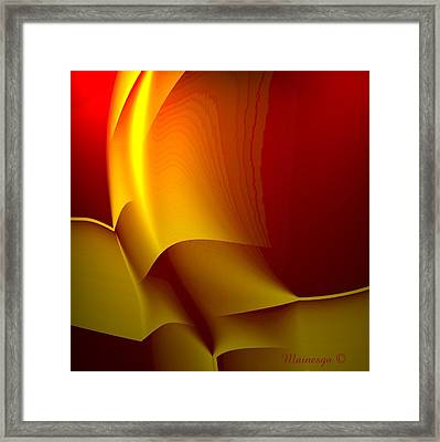 Abstract 2-0-13 Framed Print by Ines Garay-Colomba