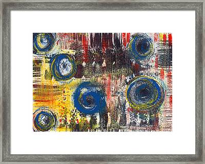 Abstract 2 Framed Print by Angela Bruno