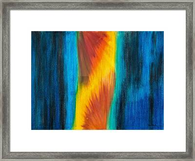 Abstract 21 Omnes Mundi Theatro All The World's  Stage Framed Print by Brian Broadway