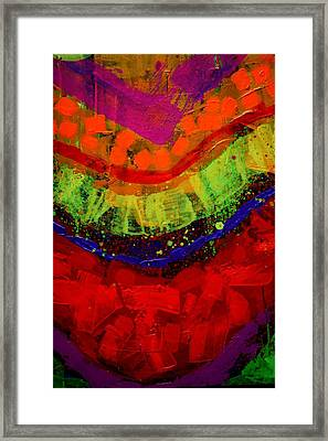 Abstract 23614 Cropped I Framed Print