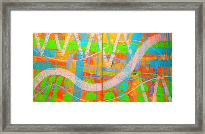 Abstract  23614 Diptych I And II Framed Print by John  Nolan