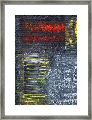 Abstract 3 Framed Print by Angela Bruno