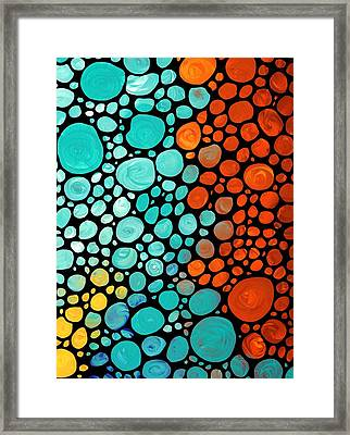 Mosaic Art - Abstract 3 - By Sharon Cummings Framed Print by Sharon Cummings