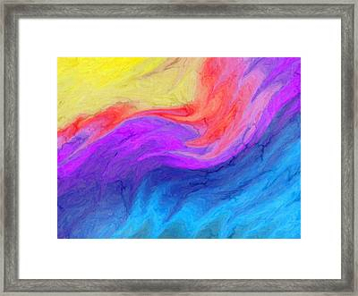 Abstract 37 Framed Print by Kenny Francis