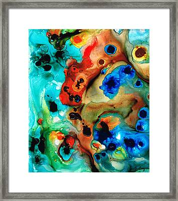 Underwater Diva Framed Print featuring the painting Abstract 4 - Abstract Art By Sharon Cummings by Sharon Cummings