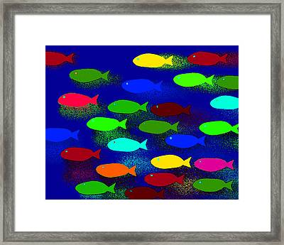 Abstract 47b Framed Print by Timothy Bulone