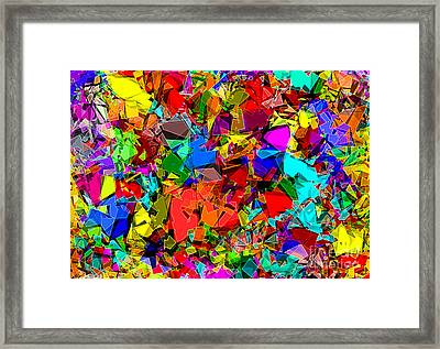 Framed Print featuring the digital art Astratto - Abstract 50 by ZeDi