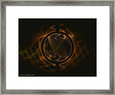 Framed Print featuring the digital art Abstract 53 by Linda Whiteside