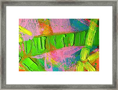 abstract 6814 Diptych Cropped XIV Framed Print by John  Nolan