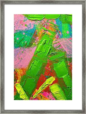 Abstract 6814 Diptych Cropped Xvii Framed Print by John  Nolan