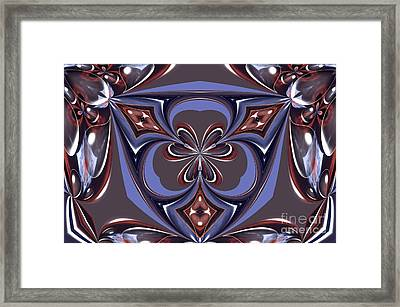 Abstract A027 Framed Print by Maria Urso