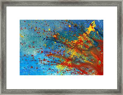 Abstract - Acrylic - Just Another Monday Framed Print by Mike Savad