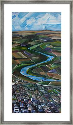 Abstract Albuquerque Framed Print by Judy Lybrand