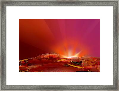 Abstract - Alien Sunrise Framed Print