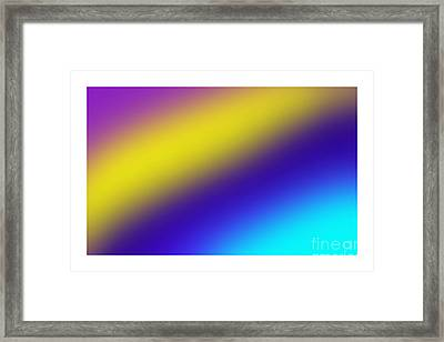 Abstract And Polychromatic Composition  Framed Print by Enrique Cardenas-elorduy