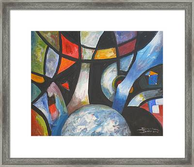 Abstract And The World Framed Print