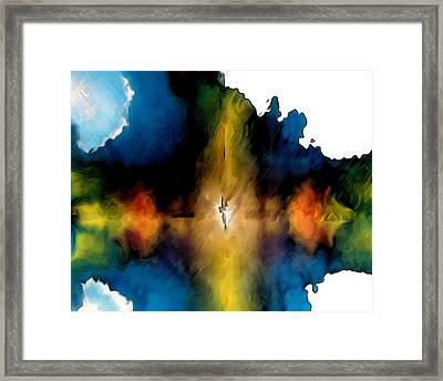 Abstract Angel Framed Print