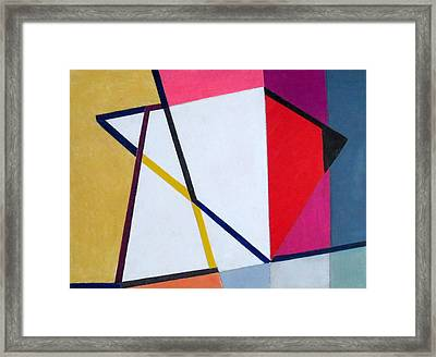 Abstract Angles V Framed Print by Diane Fine