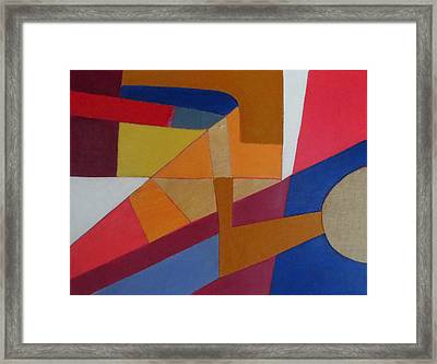 Abstract Angles Viii Framed Print by Diane Fine